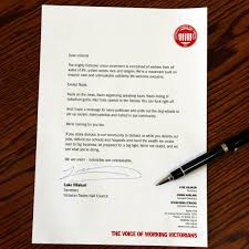 Letter To Union Members After Senator Gave Racist Speech To