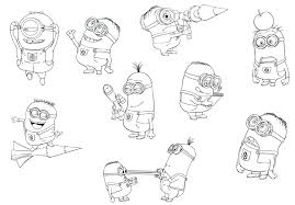 Minions Colouring Book Pdf Coloring Games Despicable Me Free Pages 2015 Full Size