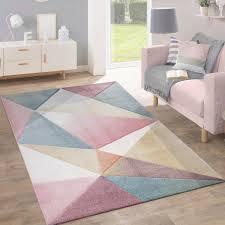teppich modern pastell geometrisch multifarben