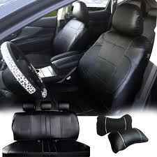 100 Semi Truck Seats Amazoncom 53255 Black PU Leather Full 5 Car Seat Covers