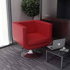 unfadememory drehsessel kunstleder bar sessel drehbar loungesessel relaxsessel höhenverstellbar gepolsterte sitz verchromte stahlfuß für wohnzimmer
