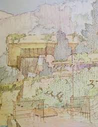 100 Frank Lloyd Wright Sketches For Sale Drawings For A Living Architecture By