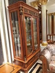 vitrine glas schrank wohnzimmer schaufenster 2tlg vitrinen barock rokoko italien