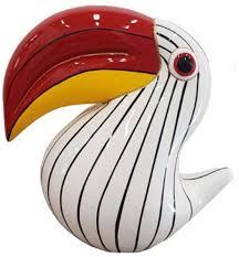 casa padrino designer dekofigur tukan vogel weiß schwarz rot gelb h 65 cm wohnzimmer deko skulptur gartendeko skulptur wetterbeständige