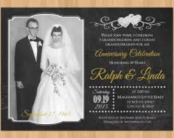 50th Anniversary Invitation Printable Wedding Chalkboard Party Golden