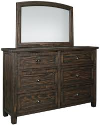 signature design by ashley trudell solid pinewood dresser with six