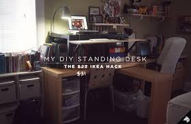 Diy Standing Desk Riser by My Diy Standing Desk U2014the 22 31 Ikea Hack Imaginary Zebra Iz