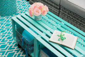 make a mobile outdoor coffee table from wooden crates hgtv