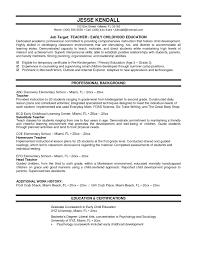 Resume Teacher Examples Best Sample Primary