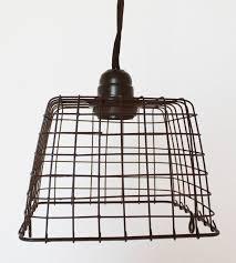 Wire Basket Swag Lamp Pendant Light