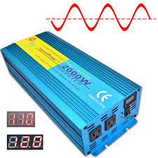 100 Truck Power Inverter Amazoncom Cantonape 2000W Pure Sine Wave 4000W Peak