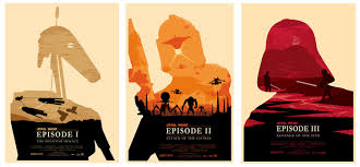 Yesterdays Cheese Star Wars Episodes 1 3 Silhouette Posters Olly Moss Style