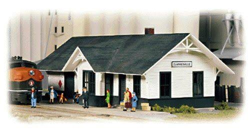 Walthers Cornerstone N Scale Building Structure Clarkesville Depot Station Kit