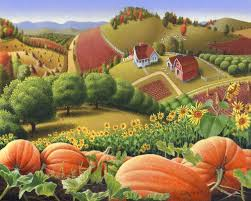 Pumpkin Patch Near Cincinnati Oh by Appalachian Pumpkin Patch Harvest Farm Country Landscape Painting