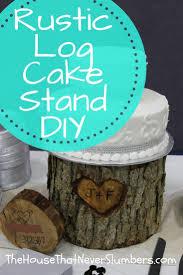 DIY Rustic Log Wedding Cake Stand