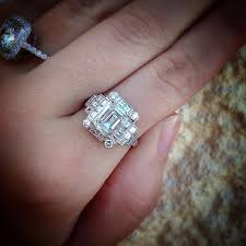 Art Deco Style Emerald Cut Engagement Ring