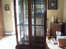 Pulaski Glass Panel Display Cabinet by Pulaski Glass Cabinets U0026 Cupboards Ebay