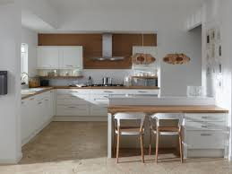Kitchen White Wooden L Shaped Cabinet With Square Island Of Simple Magazine Home Decor Plan Ideas Interior Design
