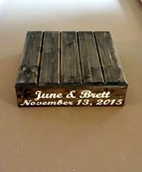 Custom Cake Stand Wedding Name And Date Customized Reclaimed StandPersonalized Rustic
