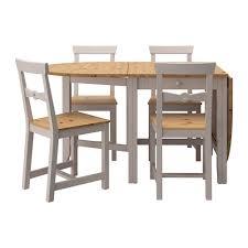 table et 4 chaises gamleby table et 4 chaises teinté antique clair gris 67 cm ikea