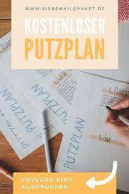 putzplan vorlage für familien realistisch und kostenlos