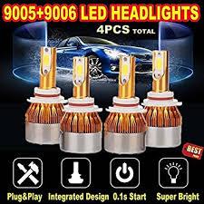 9005 and 9006 led headlight bulbs 6000k white high low