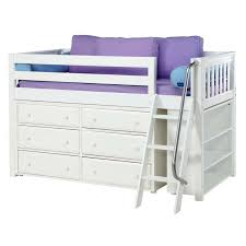 Low Loft Bed With Desk And Storage by Carter Low Loft Bed With Dressers And Bookcase Rosenberryrooms Com