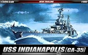 Sinking Ship Indianapolis Facebook by Amazon Com Uss Indianapolis Ca35 Heavy Cruiser New Tool 1 350