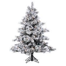45 Pre Lit Flocked Alaskan Artificial Christmas Tree