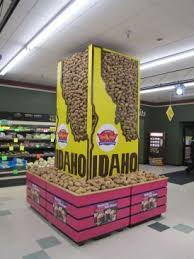 Dean Eides IdahoR Potato Display At Lammers Food Fest In Menomonie WI Won First Place Among Stores With 6 9 Cash Registers