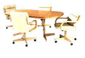 Kitchen Chairs With Casters Dining Table With Caster Chairs Dining