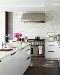 White Kitchen Backsplash Dark Cabinets Modern Minimalist Ideas Glass Hanging Lamp Fixtures U Shape