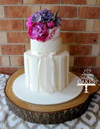 Extended Height Rustic Wedding Cake