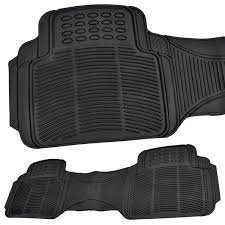 100 Floor Mats Truck Black Color All Weather 3 Piece Set Heavy Duty Rubber Auto