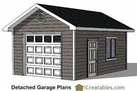 1 Car Garage Plans Storage Building Plans Outdoor Sheds