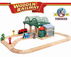 knapford station real wood thomas the train set layout percy and