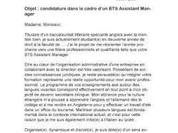 lettre de motivation bts assistant manager par lettreutile