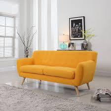 Danish Modern Sofa Ebay by Amazon Com Mid Century Modern Linen Fabric Sofa Loveseat In