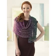 Free Pattern Lion Brand Shawl In A Ball Crochet Sparkle Shawl L60157