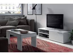 wohnzimmer tv kikua 130 cm glänzend weiß mit einer tür und einem ablagefach farbe weiß