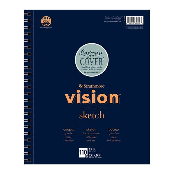 "Strathmore Vision Sketch Pad - 9"" x 12"", x110"