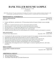 Entry Level Bank Teller Resume Objective For Templates No