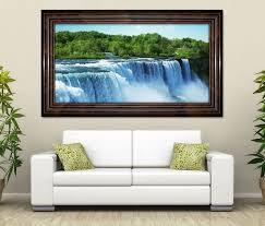 3d wandtattoo niagara wasserfälle natur wasserfall selbstklebend wandbild wohnzimmer wand aufkleber 11l1581 3dwandtattoo24 de
