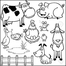 Farm Animals Coloring Pages For School Color Zini Funny In Sheets Animal Full Size
