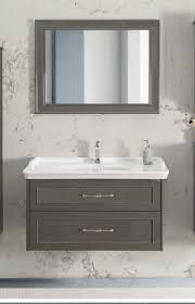 badezimmer schrank retro kale frame 80cm antrazit unterschrank keramik waschbecken mit spiegel