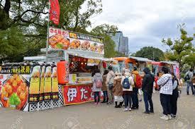 100 Where To Buy Food Trucks Many People Are Queuing To Buy Takoyaki At Food Truck Near Osaka