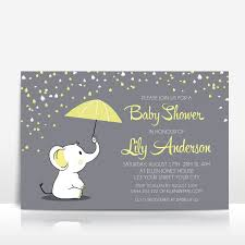 Baby Shower Invitations Yellow And Grey Baby Shower Invitations