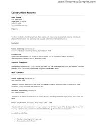 Sample Resume For Construction Skills Office Manager Company