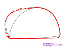 how to draw a taco step 2