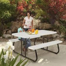 Lifetime Folding Picnic Table Assembly Instructions by Lifetime 5 U0027 Folding Picnic Patio Table At Menards